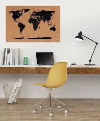 Cork World Map by Qsuber Handmade Corkboard World Maps Pin Your Travels