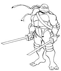 Coloriage Tortue Ninja à Imprimer 1395