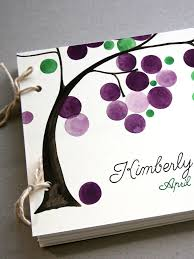 guest book photo album custom colors wedding guest book album with tree branch modern