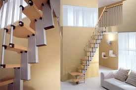 Wall Stairs Design Steps To Saving Space 15 Compact Stair Designs For Lofts Urbanist