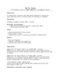 sample resume for babysitter babysitter resume example writing