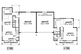 Duplex Floor Plan by Country House Plans Warrendale 60 036 Associated Designs