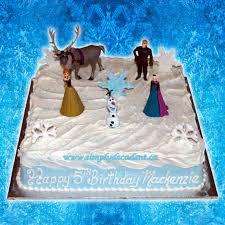 disney frozen square birthday cake anna elsa kristoff sven