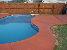 thinking of staining my pool concrete a terracotta colour pool