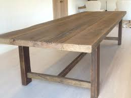 Reclaimed Timber Dining Table Chunky And Rustic 3m In Length X 1 2m Wide Rabbit Trap