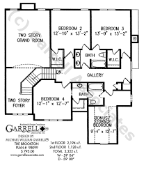 2nd Floor Plan Design Brookton House Plan House Plans By Garrell Associates Inc