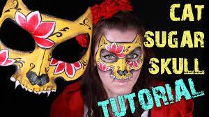 cat sugar skull very feminine design for glam halloween youtube