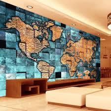 online buy wholesale 3d world map wall paper from china 3d world custom any size 3d mural wallpaper world map 3d relief living room sofa study backdrop photo