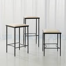 iron bar stools iron counter stools global views products hammered stool