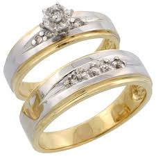 gold set for marriage 14k yellow gold diamond jewelry wedding engagement sets