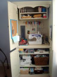 need to convert my old computer armoire into a sewing station