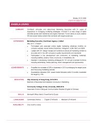 Resume Examples Marketing by Marketing Marketing Executive Resume Examples