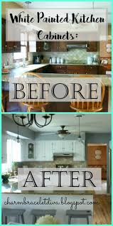 What Kind Of Paint For Kitchen Cabinets Our Hopeful Home Diy White Modern Farmhouse Painted Kitchen Cabinets