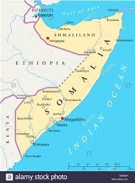 Horn Of Africa Map by Somalia Political Map With Capital Mogadishu With National