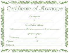 fake traditional corner marriage certificate printable marriage