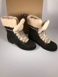 s ugg ankle boots with laces ugg fraser size 10 s boots rugged leather slate