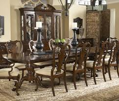 Double Pedestal Dining Table Belfort Signature Belmont Fredericksburg Rectangular Double