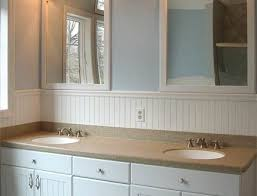bathroom with wainscoting ideas stylish wainscoting bathroom vanity for contemporary wainscot
