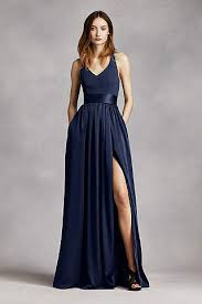 navy bridesmaid dresses navy blue bridesmaid dresses you ll david s bridal