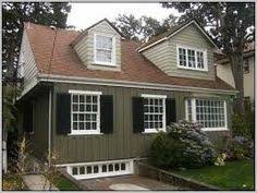 exterior paint ideas with red brown roof home exteriors