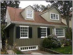 subtle blue exterior paint color ideas for homes with white trim