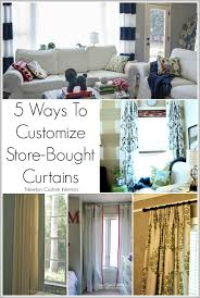 In Store Curtains 5 Ways To Customize Store Bought Curtains Newton Custom Interiors