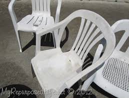 White Patio Chair Spray Paint Plastic Chairs