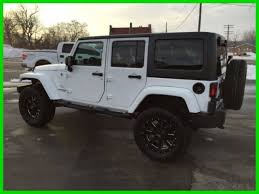 white jeep wrangler unlimited black wheels 2013 jeep wrangler unlimited white 4 lift black 20