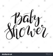 baby shower text custom lettering invitation stock vector