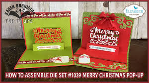 pop it ups merry christmas pop up 1039 assembly youtube