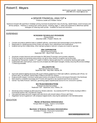 Resume For Financial Analyst 9 Financial Analyst Resume Samples Financial Statement Form