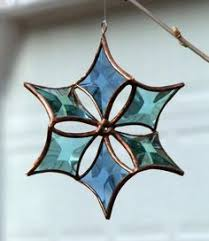 beveled snowflake stained glass suncatcher 8 stained glass