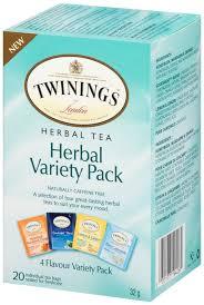 twining tea assorted herbal teas variety pack caffeine free 20
