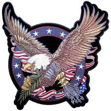 Eagles Flag Patriotic American Flag Eagle Clutching Arrows Embroidered Biker