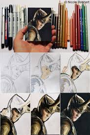 loki sketch card step by step by quelchii on deviantart