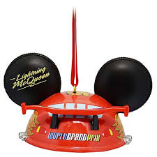 your wdw store disney ears ornament lightning mcqueen