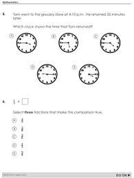 math test prep 3rd grade printable practice for standardized tests