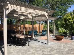 Pergola Gazebo With Adjustable Canopy by Louvered Awnings Shade And Shutter Systems Inc New England