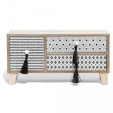 gifi bureau mini boîte de rangement bureau naturel motifs berbères boîte de