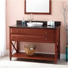 bathrooms design wood open shelf bathroom vanity with diy