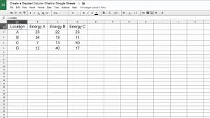 Four Column Chart Template by Sheets Create A Stacked Column Chart