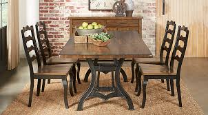 industrial court mango 5 pc rectangle dining room dining room