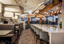 Restaurant Kitchen Lighting Room Lighting Ideas With Beams Faux Wood Workshop