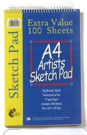 amazon com a4 drawing u0026 sketching wirebound book 100 sheets
