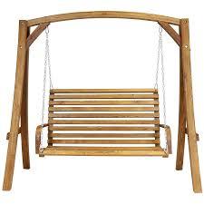 3 Seater Garden Swing Chair Charles Bentley 3 Seater Wooden Garden Swing Seat Robert Dyas