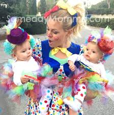 cute clown family baby girls halloween costume diy twins babys