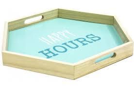 plateau cuisine design plateau hexagonal turquoise dekoo accessoires cuisine salière
