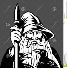 norse god odin spear ravens stock photo image 12500450