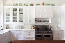 white kitchen cabinets tile backsplash look modern white kitchen