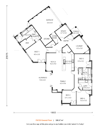 house plans 3 bedroom 2 bath one level arts ranch home floor 46701